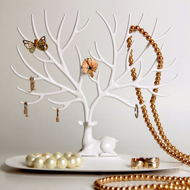 鹿角樹型首飾架