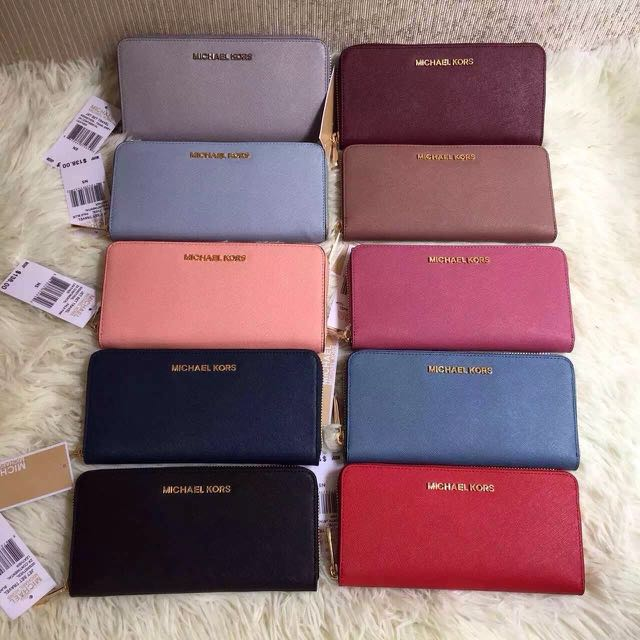 ca54162b67d9 💯 Authentic Michael Kors MK Fulton Leather Long Purse / Wallet ...