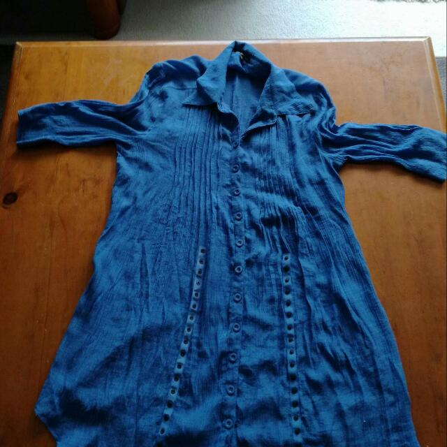 A Demin Looking Button Up Dress