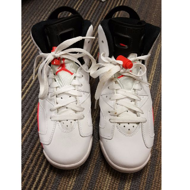 quality design 0899c 7a158 Air Jordan 6 Infrared White, Sports, Athletic   Sports Clothing on Carousell