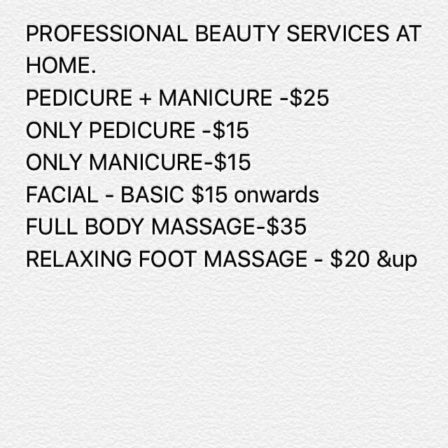 BEAUTY SERVICES AT HOME