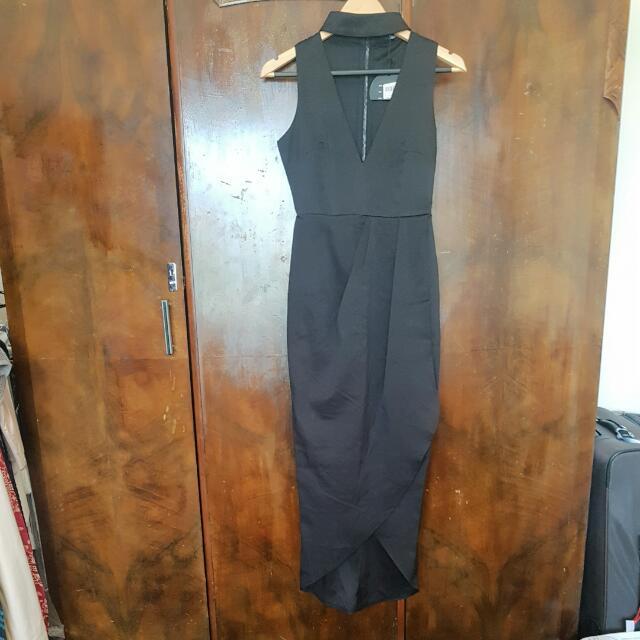 Black Maxi Side Split Dress Size 8