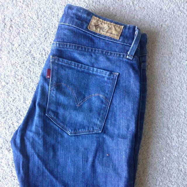 Blue Levis Skinny Jeans Size 24/00 (au6)