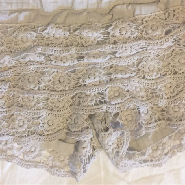 Bone Crochet Shorts