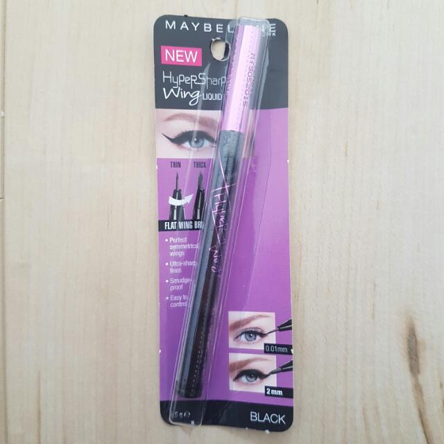 BRAND NEW MAYBELLINE HYPERSHARP WING LIQUID LINER BLACK IN PACKAGING