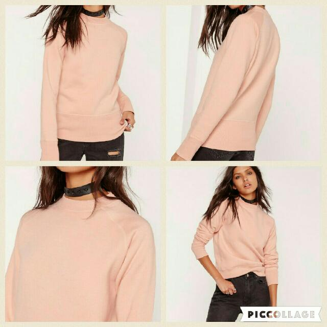Brand New Missguided Cute Pink Sweater 8 Jumper Sweatshirt Misguided
