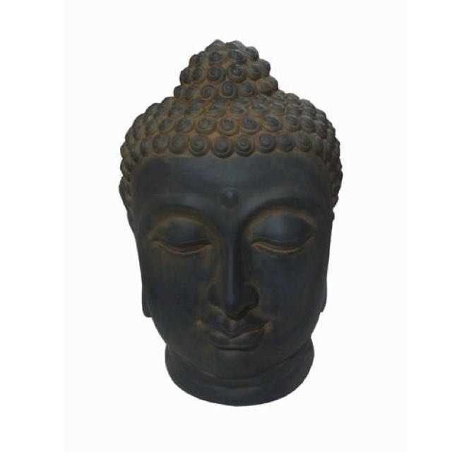 BUDDHA HEAD PEACEFUL OUTDOOR ENTERTAINING ORNAMENT