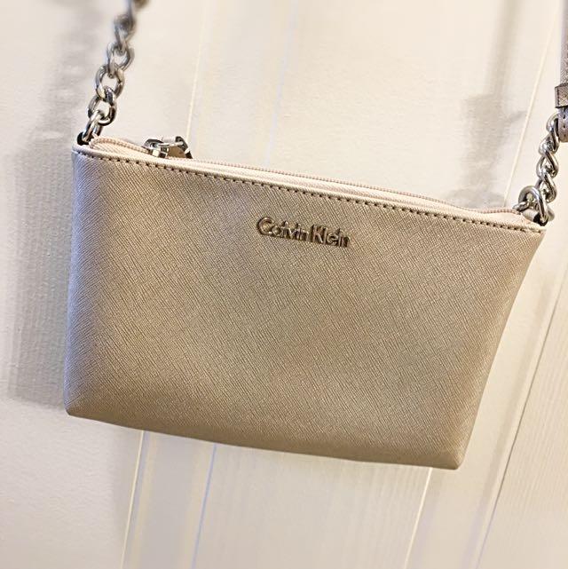 Calvin Klein Gold Cross Body Bag