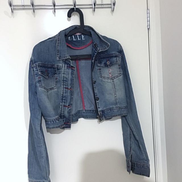 Elle cropped denim jacket