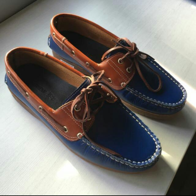 Genuine Leather Boat Shoes EU41