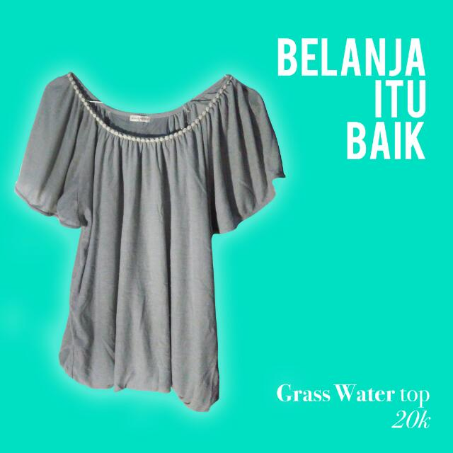Grass Water grey Top