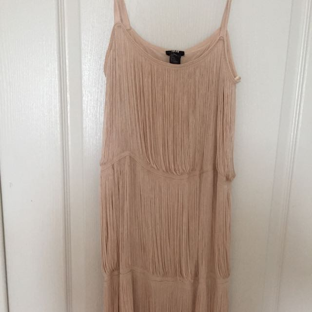 H&M Women Beige Shimmering Dress , Very Fancy and Beautiful