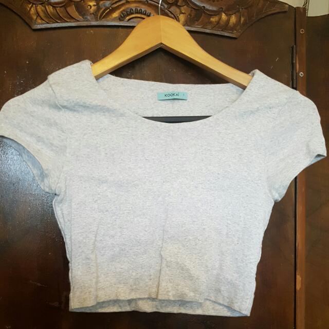 Kookai Grey Marle Top Size 1