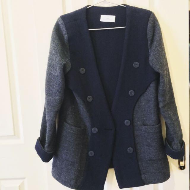 Korean Made Autumn-Winter Wool Coat