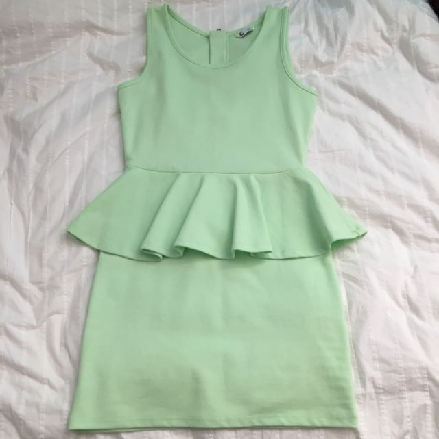 light green dress