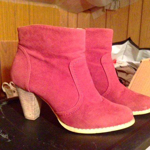 Low Cut Burgundy Boots from Reitmans