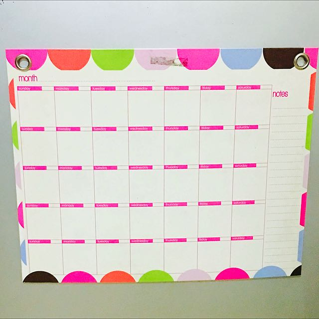 Magnetic White Board Calendar