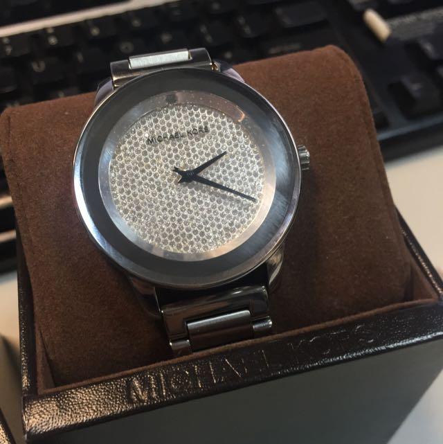 Michael Kors Kinley Pavé Dial Silver Tone Watch MK5996