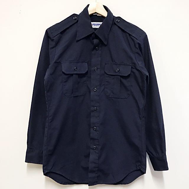 Navy Stylish Officer Shirt
