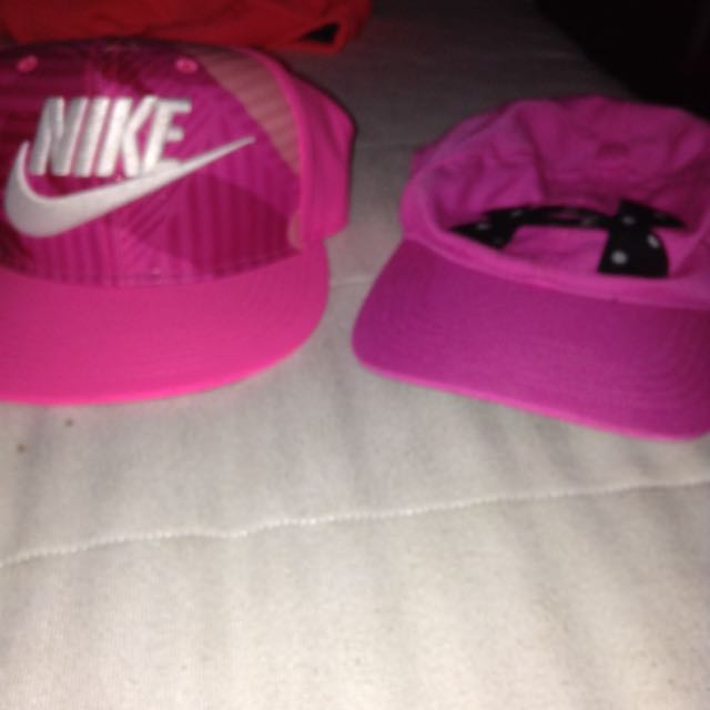 Nike Hat And Under Armour Hat
