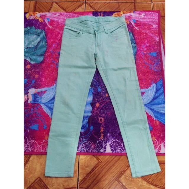Pastel Green Pants