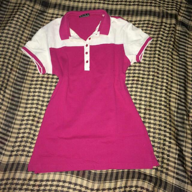 Reserved - Polo Shirt ( Fuchsia Pink)