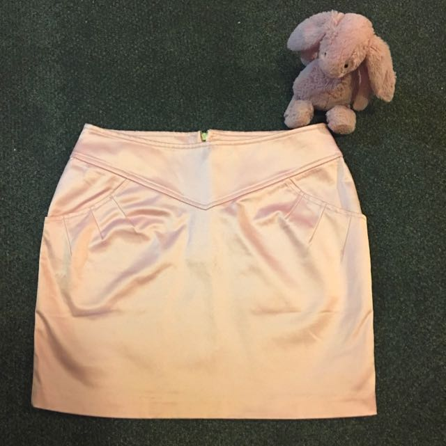 Shimmery Baby Pink Skirt