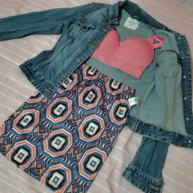 Stretch Printed Skirt