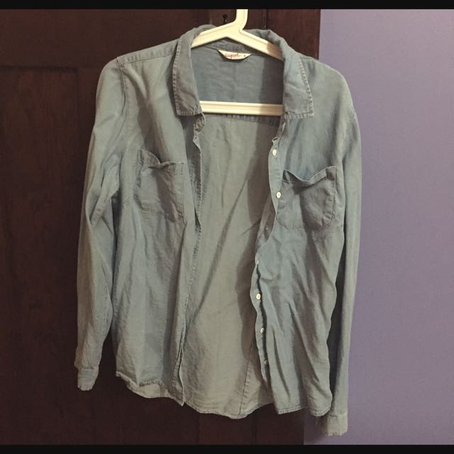 Supre Chambray Shirt Size 8