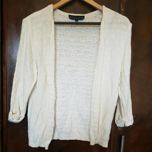 Topshop Petite Cardigan Off White Size 8