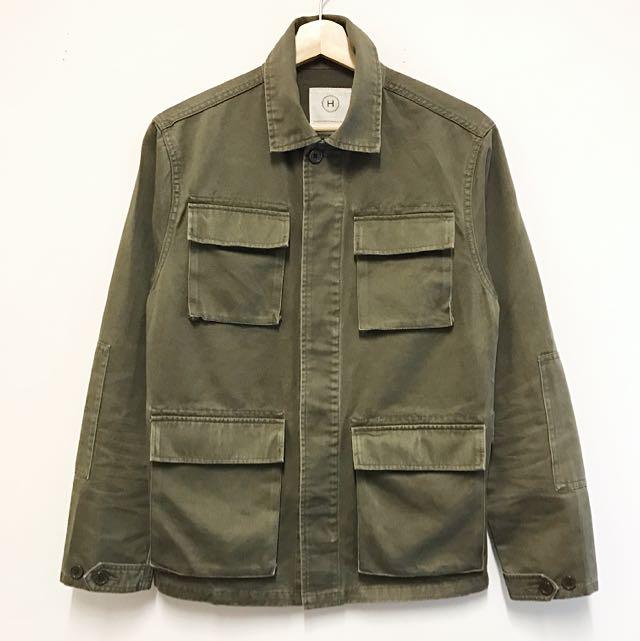 VISVIM Style 100% Cotton Military Olive Green Jacket