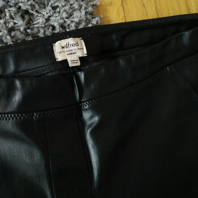 Wilfred Faux Leather Leggings