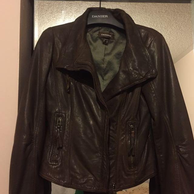 Women's Danier Dark Brown Leather Jacket