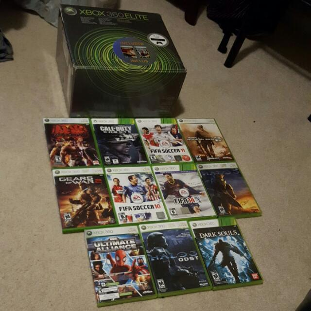 X Box 360 + 2 Controllers + 11 Games