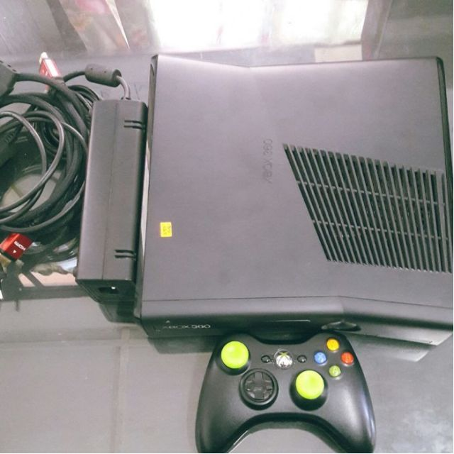 Xbox 360 Console Model 1439 Slim Black J Tag 7 Games Hard Disk 260gb Condition 910 Used