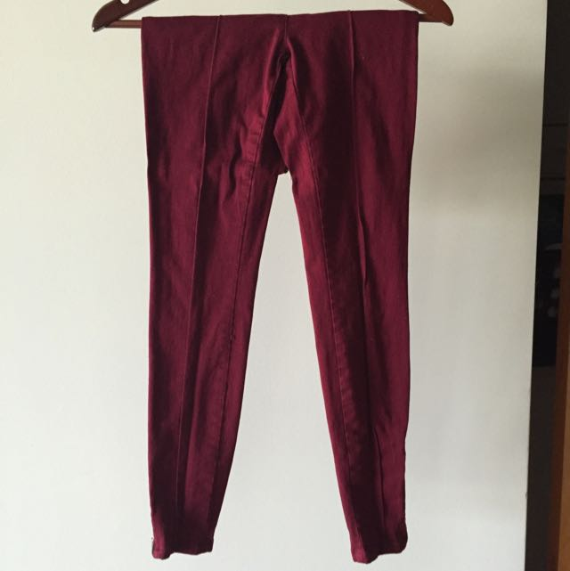 XS Marroon Pants