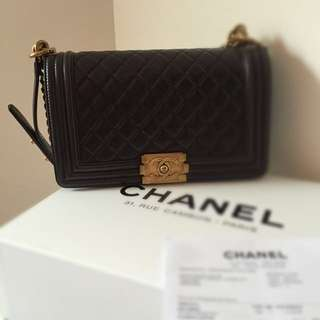 Full Set Chanel Boy Medium-Size Classical gold