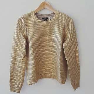 Gold Crewneck Sweater