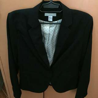 H&M Black Padded Blazer