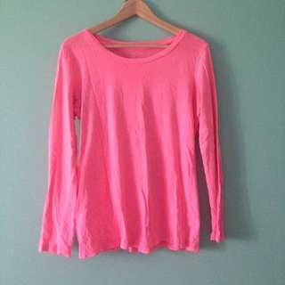 Gap - Hot Pink Long sleeve Top