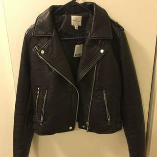 BRAND NEW VEGAN LEATHER JACKET