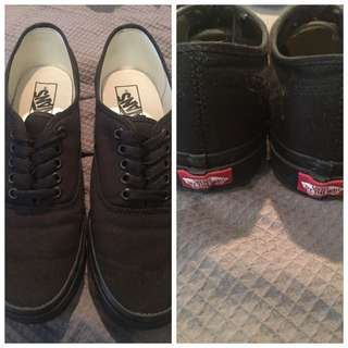 Black Vans Sz 9 Men's 10.5 Women's