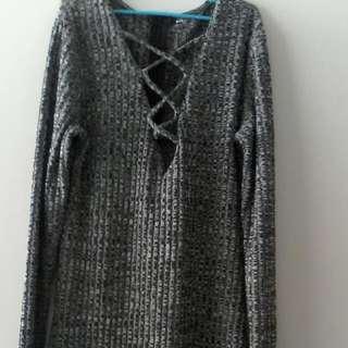 Fray Long Sleeve Dress