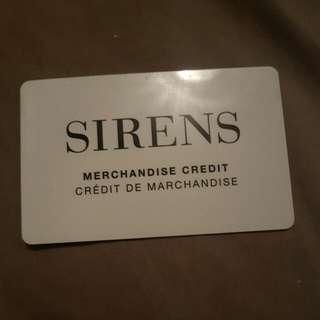 Sirens Gift card