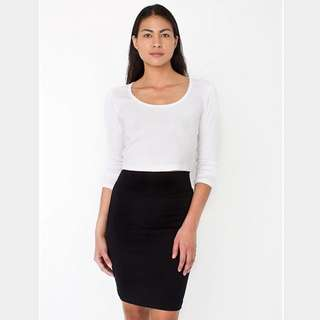 Black American Apparel Ribbed Mini Skirt