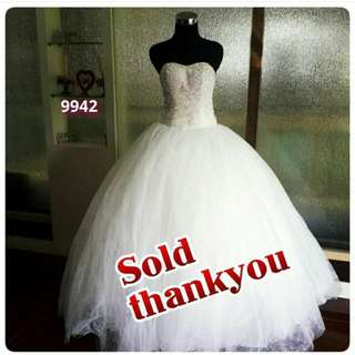 wedding gown (nego tipis)