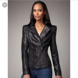 Rare Mackage Ocean Studded Leather Jacket In XXS