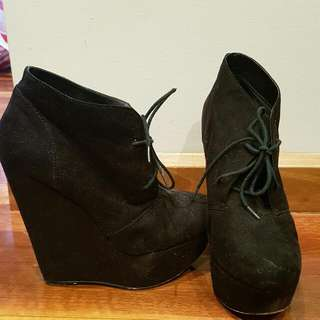 Lace Up Boots Size 10
