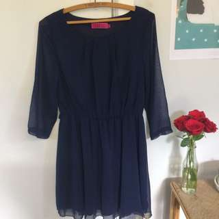 BooHoo Navy Dress