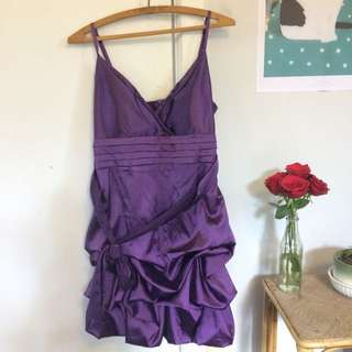 Silky Purple Party Dress